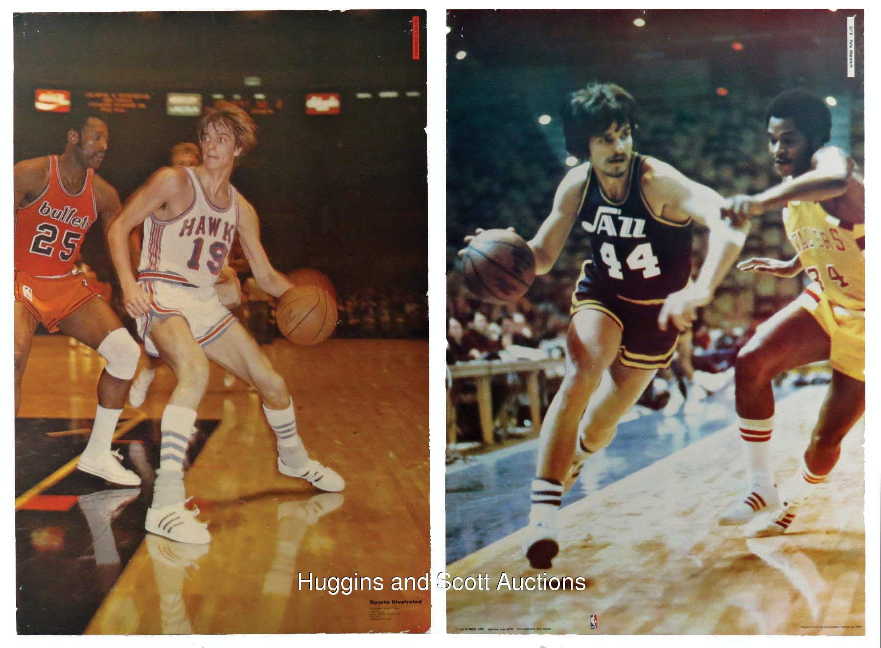 2 1970s Pete Maravich Full Size Posters